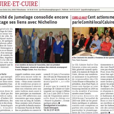 Participation de la Banda Musicale Giacomo Puccini de Nichelino au Festival MusiCaluire 2015