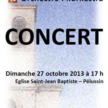 Dimanche 27 octobre 2013 à 17 h, concert à Pélussin