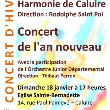 Concert de l'an nouveau, 18 janvier à 17 h, Eglise Ste Bernadette, Caluire