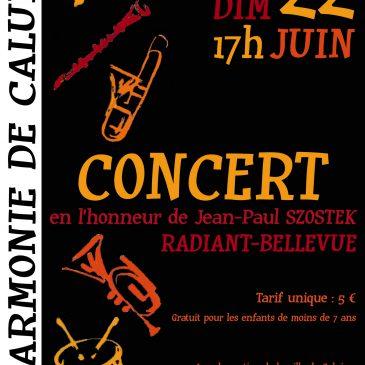 Concert en l'honneur de Jean-Paul Szostek, 22 juin 2014 à 17 h, Radiant-Bellevue