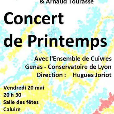 Concert de printemps le 20 mai 2016 à 20 h 30, salle des fêtes, Caluire