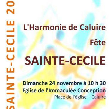 Concert de la Sainte Cécile, dimanche 24 novembre 2013 à 10 h 30