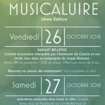 Festival Musicaluire les 26 et 27 octobre 2018