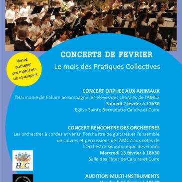 Concert samedi 2 février l'Opéra Orphée aux animaux