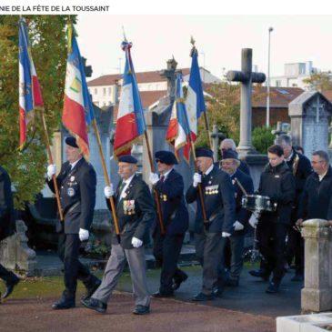 Cérémonie officielle du 1er novembre au cimetière de Caluire